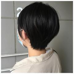 ショート ショートヘア ショートボブ 黒髪 ヘアスタイルや髪型の写真・画像