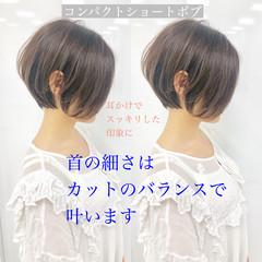 ハンサムショート インナーカラー ショート ショートボブ ヘアスタイルや髪型の写真・画像