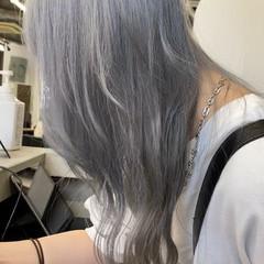 ハイトーンカラー ブロンドカラー 透明感カラー ロング ヘアスタイルや髪型の写真・画像