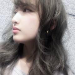 ストリート 卵型 グラデーションカラー 丸顔 ヘアスタイルや髪型の写真・画像