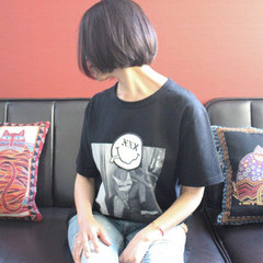 ショート 艶髪 ボブ 小顔 ヘアスタイルや髪型の写真・画像