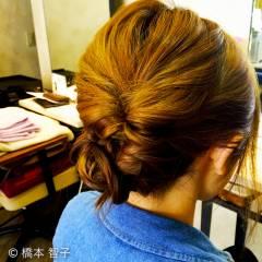 ナチュラル アップスタイル ルーズ 編み込み ヘアスタイルや髪型の写真・画像