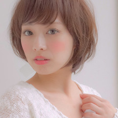 小顔 ショート 愛され 簡単 ヘアスタイルや髪型の写真・画像