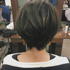 ナチュラル 大人女子 大人ショート ショートボブ ヘアスタイルや髪型の写真・画像