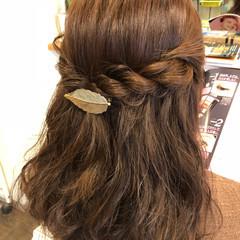 ナチュラル ヘアアレンジ ロング 簡単ヘアアレンジ ヘアスタイルや髪型の写真・画像
