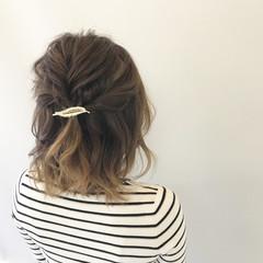 デート 女子会 ボブ 簡単ヘアアレンジ ヘアスタイルや髪型の写真・画像