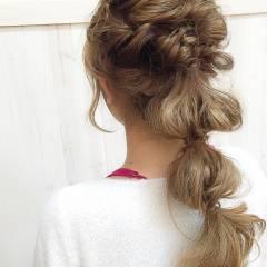 ヘアアレンジ ロング 外国人風 フェミニン ヘアスタイルや髪型の写真・画像
