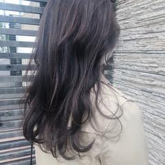ナチュラル ラベンダーカラー ラベンダーグレー ロング ヘアスタイルや髪型の写真・画像