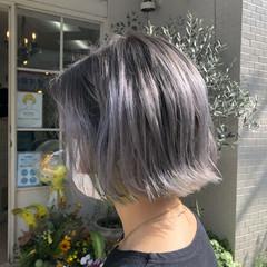 モード ショートヘア ショートボブ インナーカラー ヘアスタイルや髪型の写真・画像