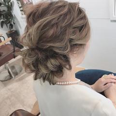 結婚式 透明感 アンニュイ ナチュラル ヘアスタイルや髪型の写真・画像