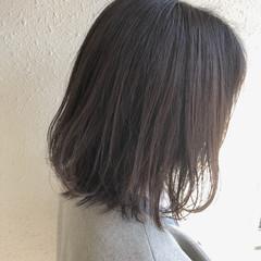 切りっぱなしボブ ボブ ハイライト 外ハネボブ ヘアスタイルや髪型の写真・画像