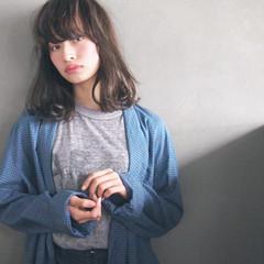 大人かわいい 暗髪 黒髪 ミディアム ヘアスタイルや髪型の写真・画像