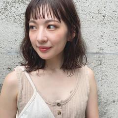 ミディアム 大人かわいい 簡単ヘアアレンジ アンニュイほつれヘア ヘアスタイルや髪型の写真・画像