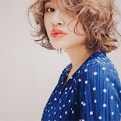 外国人風 ゆるふわ パーマ アンニュイ ヘアスタイルや髪型の写真・画像