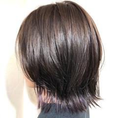 ウルフカット ショート モード インナーカラー ヘアスタイルや髪型の写真・画像