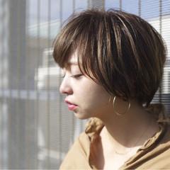 外国人風カラー ナチュラル ヘアアレンジ ショート ヘアスタイルや髪型の写真・画像