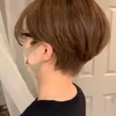 ショートヘア 大人ハイライト ショート 大人かわいい ヘアスタイルや髪型の写真・画像
