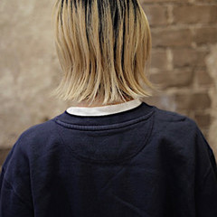 ブリーチカラー ストリート ボブ ブリーチオンカラー ヘアスタイルや髪型の写真・画像