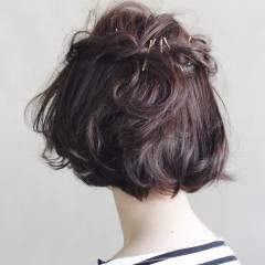 モード 抜け感 簡単ヘアアレンジ ヘアアレンジ ヘアスタイルや髪型の写真・画像
