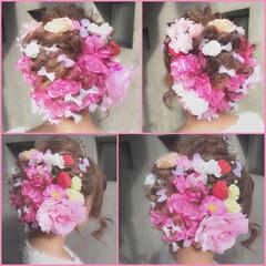 ヘアアレンジ 成人式 フェミニン ショート ヘアスタイルや髪型の写真・画像