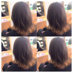 切りっぱなし ミディアム ヘアアレンジ フェミニン ヘアスタイルや髪型の写真・画像