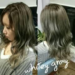 ロング ウェットヘア パンク 外国人風 ヘアスタイルや髪型の写真・画像