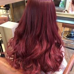 パープル モード ピンク グラデーションカラー ヘアスタイルや髪型の写真・画像