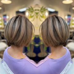 コンサバ ショートヘア ショートボブ インナーカラー ヘアスタイルや髪型の写真・画像