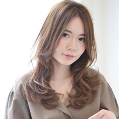 外国人風 秋 大人かわいい セミロング ヘアスタイルや髪型の写真・画像