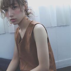 セミロング 前髪あり ショート ゆるふわ ヘアスタイルや髪型の写真・画像