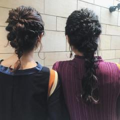 結婚式 簡単ヘアアレンジ セミロング 成人式 ヘアスタイルや髪型の写真・画像