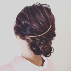 涼しげ 結婚式 夏 ヘアアレンジ ヘアスタイルや髪型の写真・画像