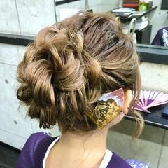 ロング ヘアアレンジ お団子 エレガント ヘアスタイルや髪型の写真・画像