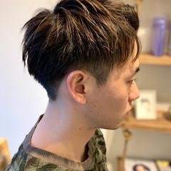 ショート コントラストハイライト メンズ 刈り上げ ヘアスタイルや髪型の写真・画像