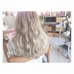 グラデーションカラー ハイトーン 外国人風 ホワイトアッシュ ヘアスタイルや髪型の写真・画像