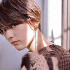 シースルーバング かわいい ミニボブ エレガント ヘアスタイルや髪型の写真・画像
