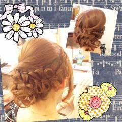 ルーズ 三つ編み アップスタイル ヘアアレンジ ヘアスタイルや髪型の写真・画像