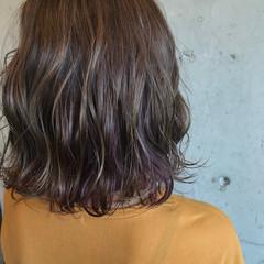 インナーカラー ストリート ボブ 秋 ヘアスタイルや髪型の写真・画像