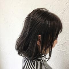 暗髪 色気 アッシュ ストリート ヘアスタイルや髪型の写真・画像