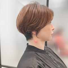 大人女子 大人ショート ナチュラル ショートボブ ヘアスタイルや髪型の写真・画像