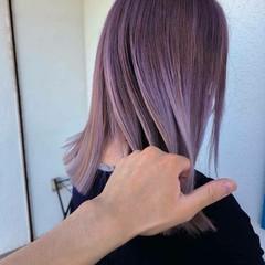 フェミニン 圧倒的透明感 セミロング 透明感 ヘアスタイルや髪型の写真・画像