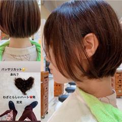 ベリーショート ナチュラル ショートヘア ショート ヘアスタイルや髪型の写真・画像