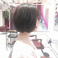 ナチュラル パーマ 暗髪 くせ毛風 ヘアスタイルや髪型の写真・画像