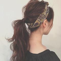 ナチュラル ヘアアレンジ ゆるふわ 大人かわいい ヘアスタイルや髪型の写真・画像