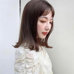 フェミニン 外ハネ ミディアム 鎖骨ミディアム ヘアスタイルや髪型の写真・画像