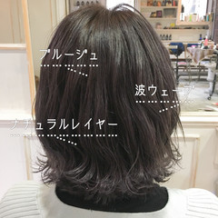 ウルフカット ウルフレイヤー ブルーアッシュ ボブ ヘアスタイルや髪型の写真・画像
