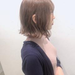 ラベンダーピンク ミニボブ ボブ コンサバ ヘアスタイルや髪型の写真・画像