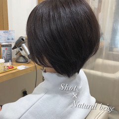 透明感カラー 大人ショート ショートヘア ショートボブ ヘアスタイルや髪型の写真・画像