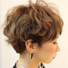 ショート ショートボブ ガーリー 外国人風 ヘアスタイルや髪型の写真・画像