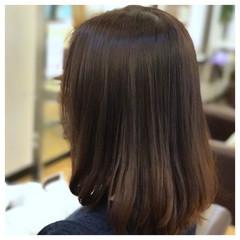 セミロング デート ボブ ワンカール ヘアスタイルや髪型の写真・画像